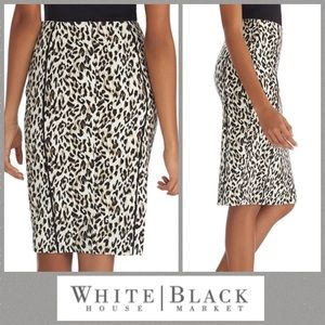 WHBM Animal Print Knee Length Skirt 4